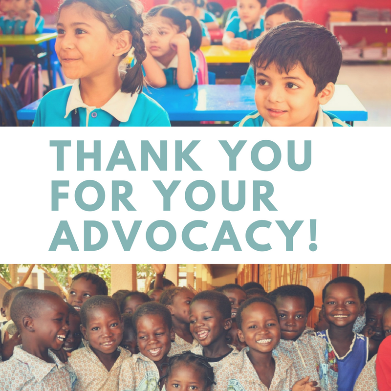 Thank you for your advocacy!