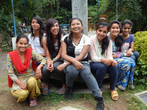 Rukmini Scholars Anju Jonisha Rojina Sonu Mandira Anu and Rama from left