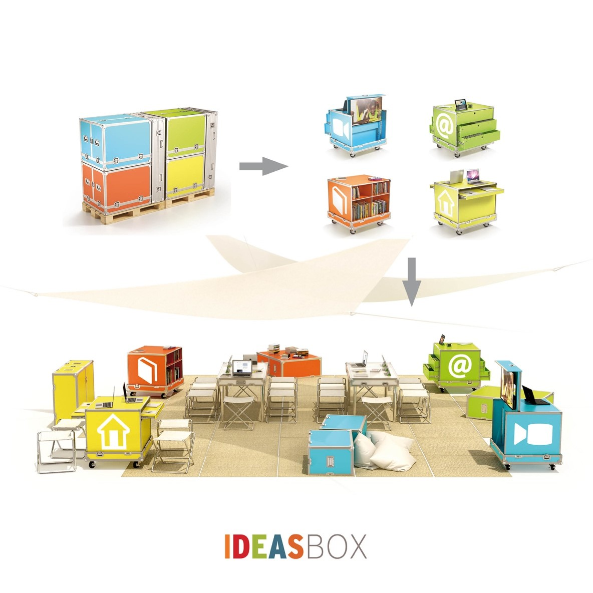 illustration of the idea box
