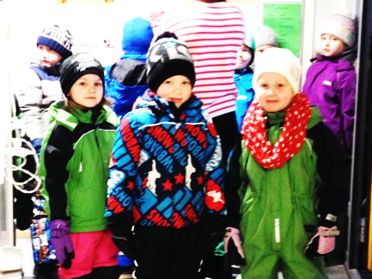 Students at Mattliden School in Finland