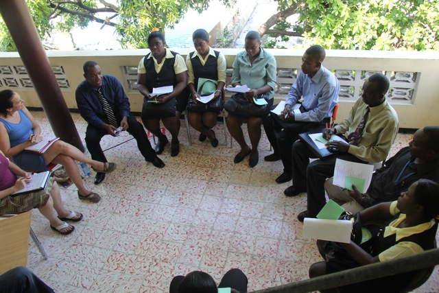 Community meeting of PEF leaders in Haiti