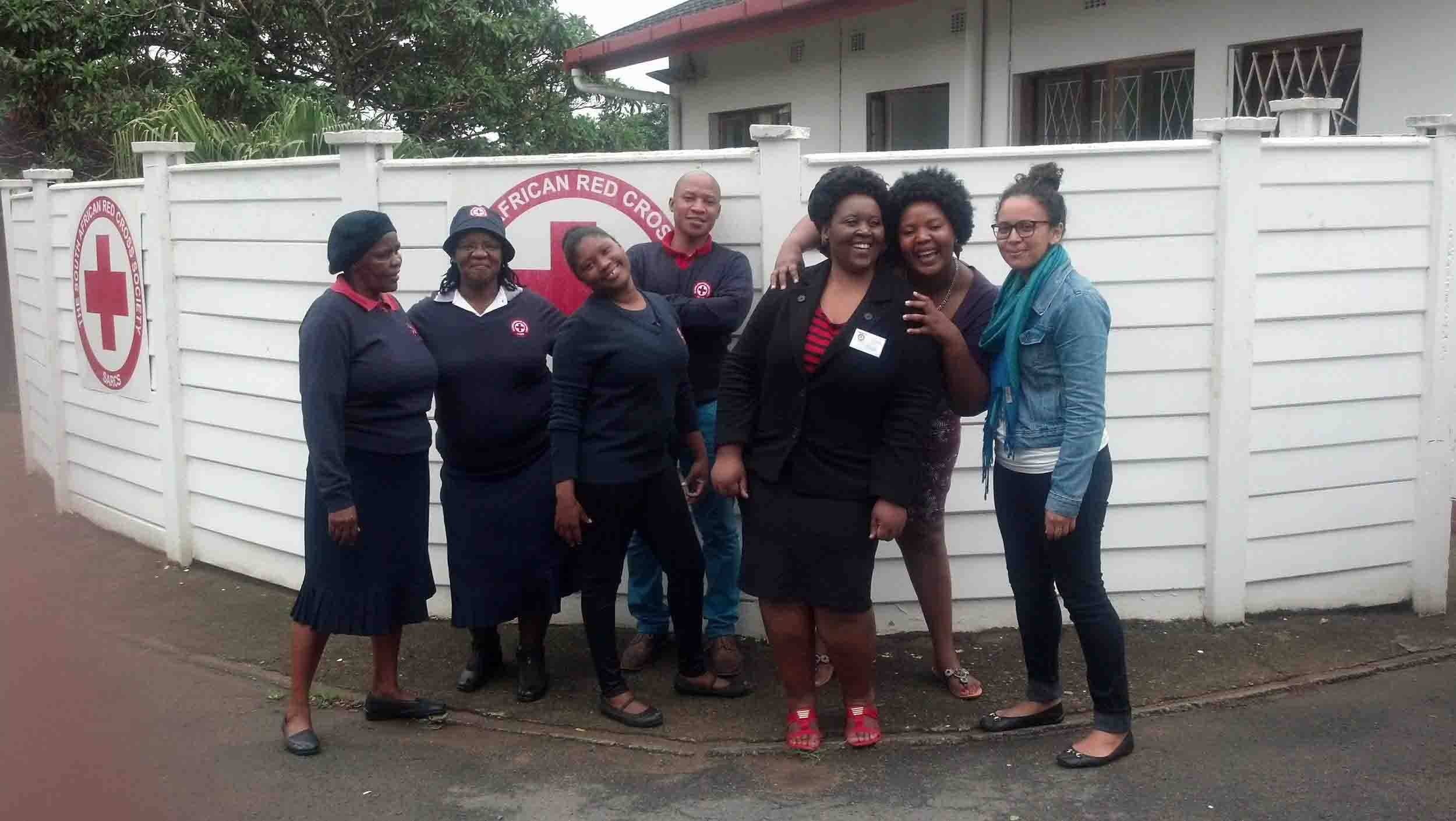 WomenOne's research consultant with the South African Red Cross Team