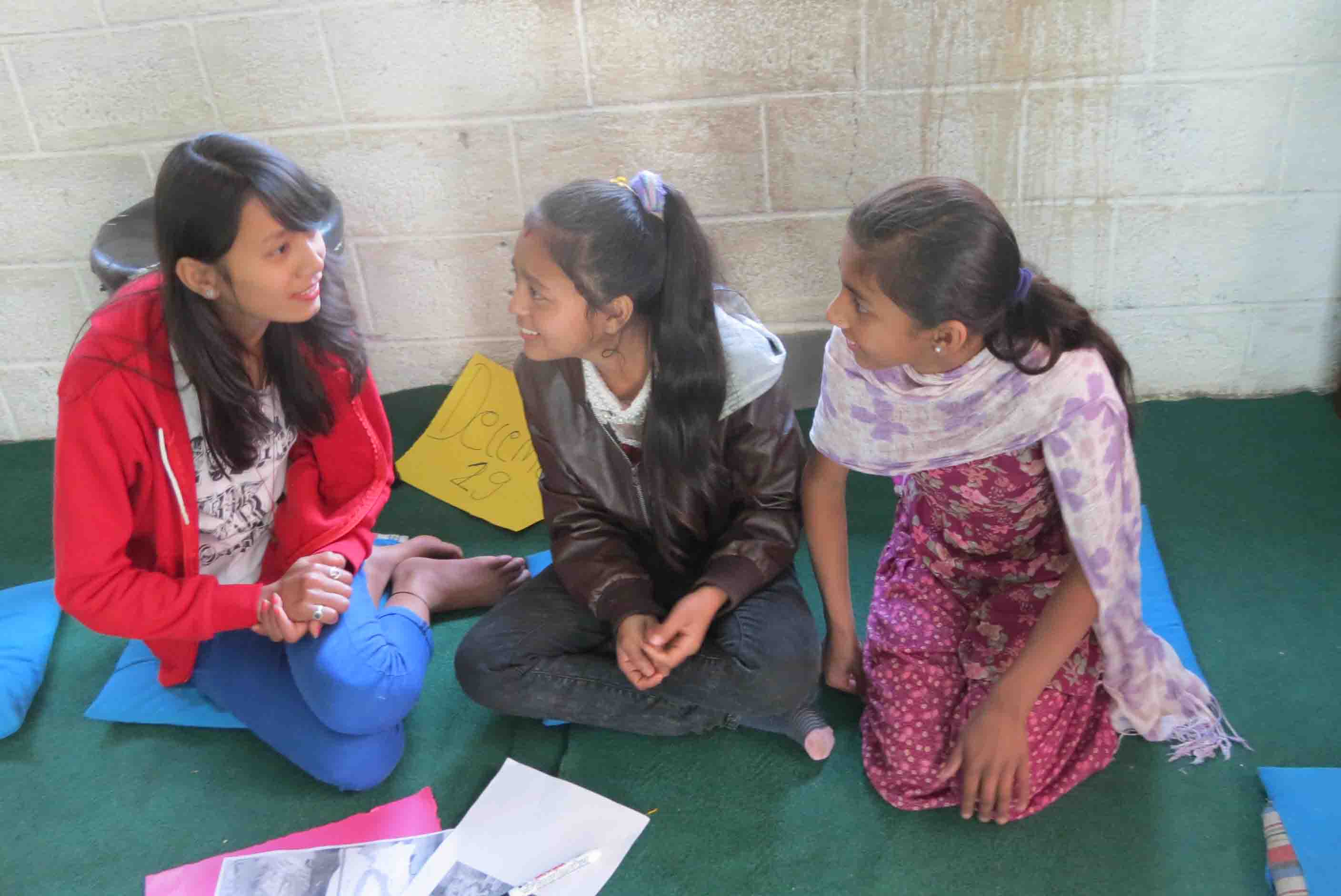 The girls were very thoughtful about the subjects and were very interested in learning about these serious issues