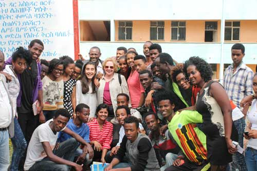 Havana with students of the HIV and AIDS club at Sodo High School