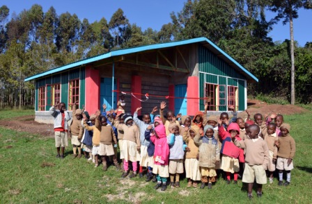 Kiguru Preschool and students