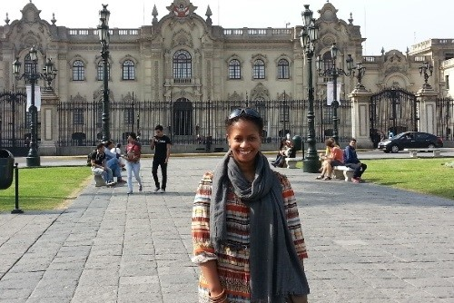 Terri Butts at the Presidential Palace of Peru