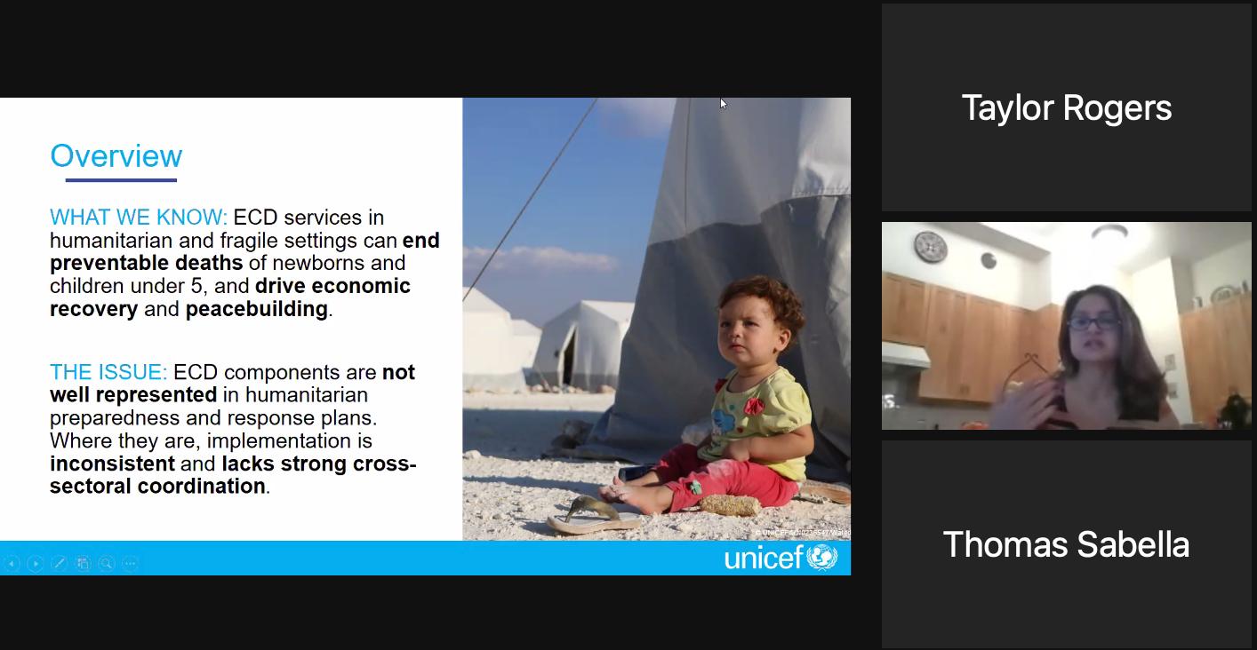 Nada Elattar with UNICEF