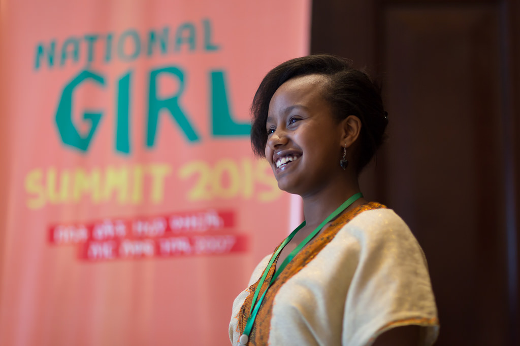 Rise Up Girl Leader Achie Gezahegne Gebre at the Girl Summit
