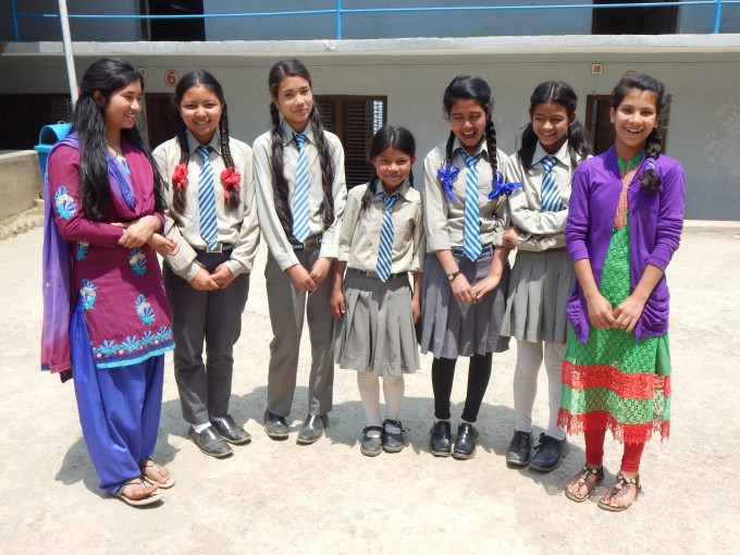 Scholar Ranjana Karki (middle) was just 11 when she joined and is the youngest of our current scholars