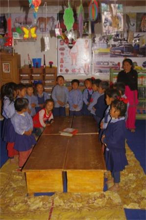 Children in a Nepalese ECE classroom