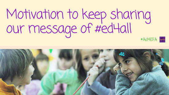 Motivation to keep sharing our message of #ed4all