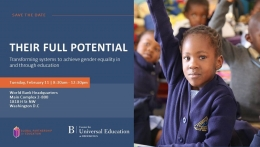 Their Full Potential: Transforming systems to achieve gender equality in and through education