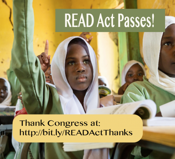 Great News: READ Act Passed!