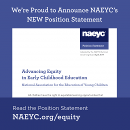 Advancing Equity in Early Childhood Education: Looking Internally, Connecting Externally