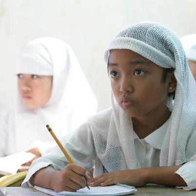 Young girl in a classroom