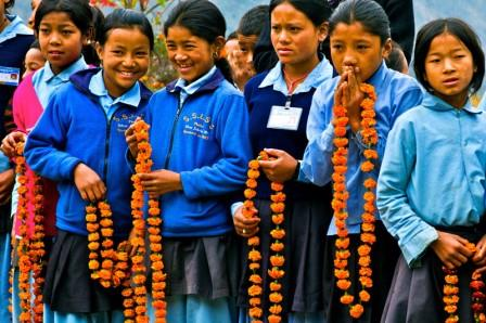 Nepalese school girls