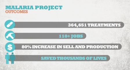 Malaria project outcomes